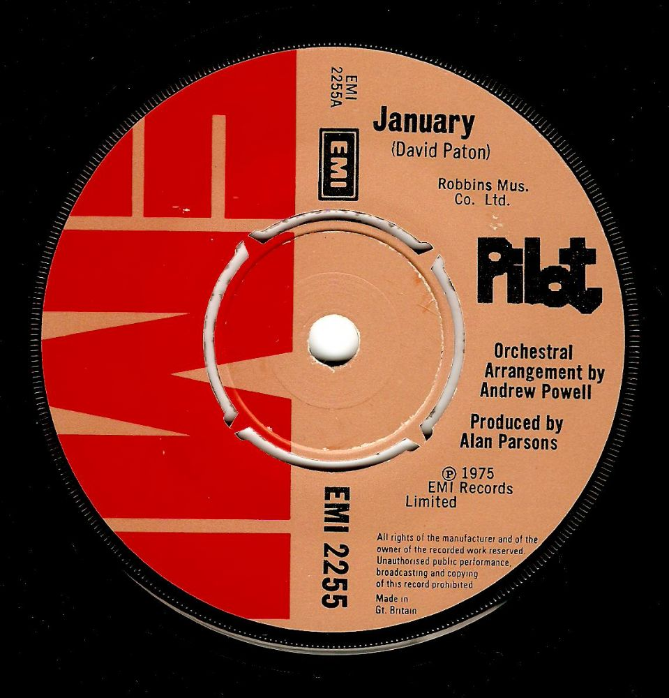 PILOT January Vinyl Record 7 Inch EMI 1975